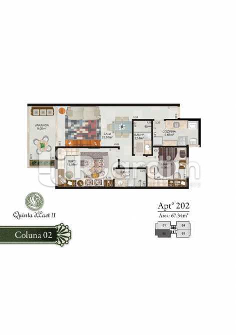 COLUNA 02 - 202 - Cobertura 2 quartos à venda Tijuca, Zona Norte - Grande Tijuca,Rio de Janeiro - R$ 1.090.000 - LACO20054 - 4