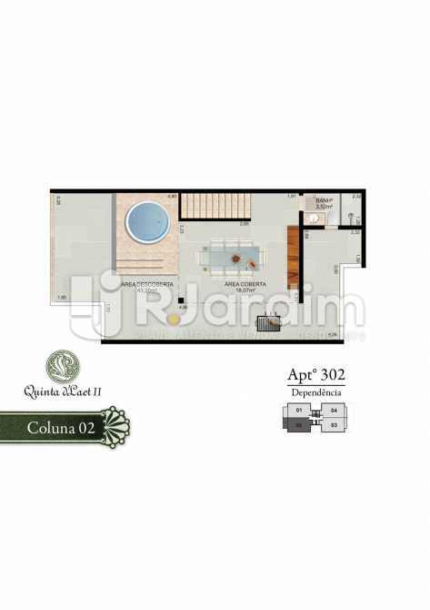 COLUNA 02 - 302 - SUPERIOR - Cobertura 2 quartos à venda Tijuca, Zona Norte - Grande Tijuca,Rio de Janeiro - R$ 1.090.000 - LACO20054 - 5