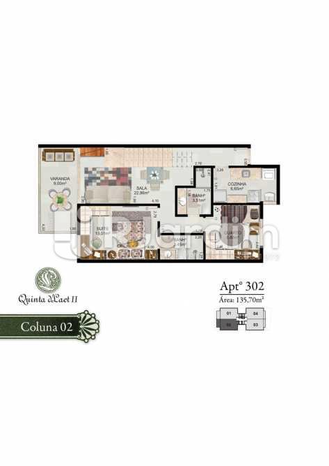 COLUNA 02 - 302 - Cobertura 2 quartos à venda Tijuca, Zona Norte - Grande Tijuca,Rio de Janeiro - R$ 1.090.000 - LACO20054 - 6