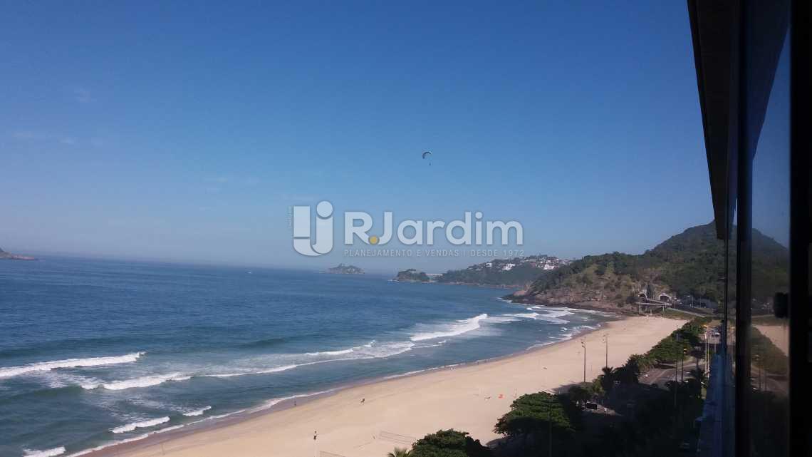 Vista da varanda da sala - Apartamento Suites Aluguel São Conrado Praia Lazer Zona Sul Rio de Janeiro RJ - LAAP50032 - 3
