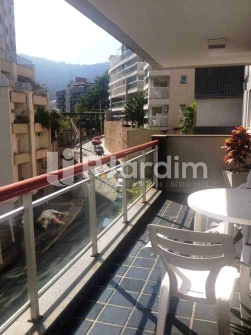 varanda - Apartamento Lagoa 2 Quartos Garagem - LAAP20861 - 3