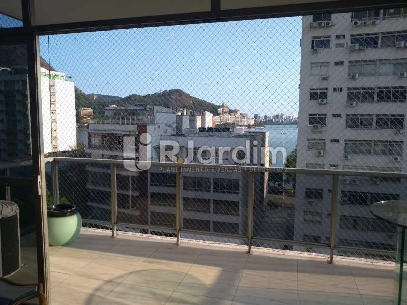 varanda vista Lagoa  - Apartamento 4 quartos à venda Jardim Botânico, Zona Sul,Rio de Janeiro - R$ 4.100.000 - LAAP40511 - 5