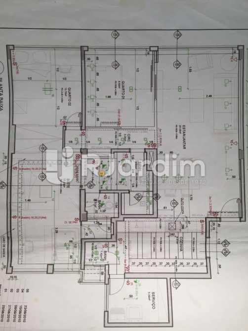 Planta do Apto Reformado - Apartamento Residencial Copacabana - LAAP31241 - 5