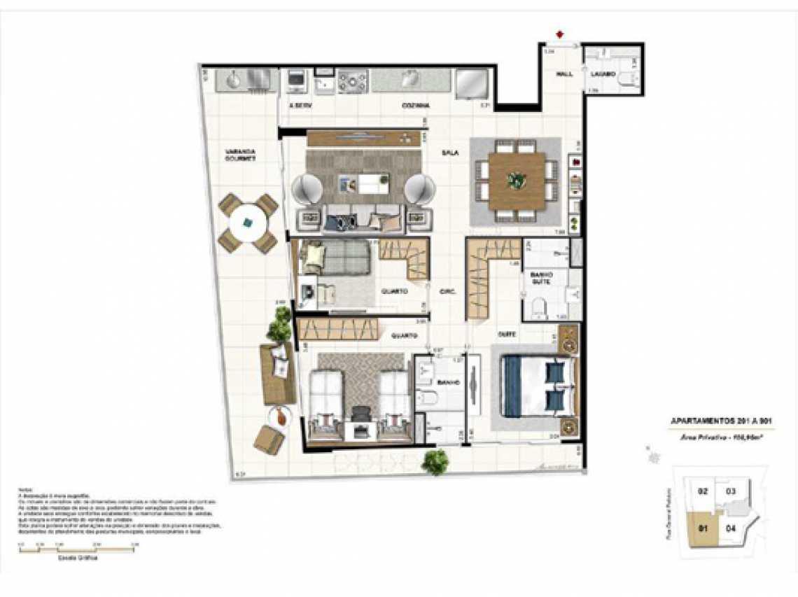 PLANTA - Apartamento À VENDA, Botafogo, Rio de Janeiro, RJ - LAAP20922 - 14