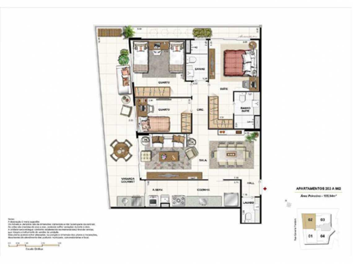 PLANTA2 - Apartamento À VENDA, Botafogo, Rio de Janeiro, RJ - LAAP20922 - 15