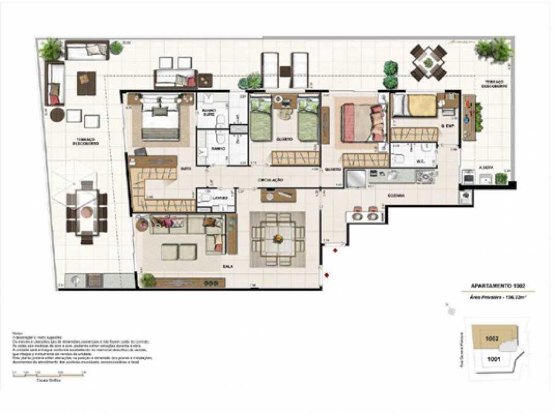 PLANTA6 - Apartamento À VENDA, Botafogo, Rio de Janeiro, RJ - LAAP20922 - 19