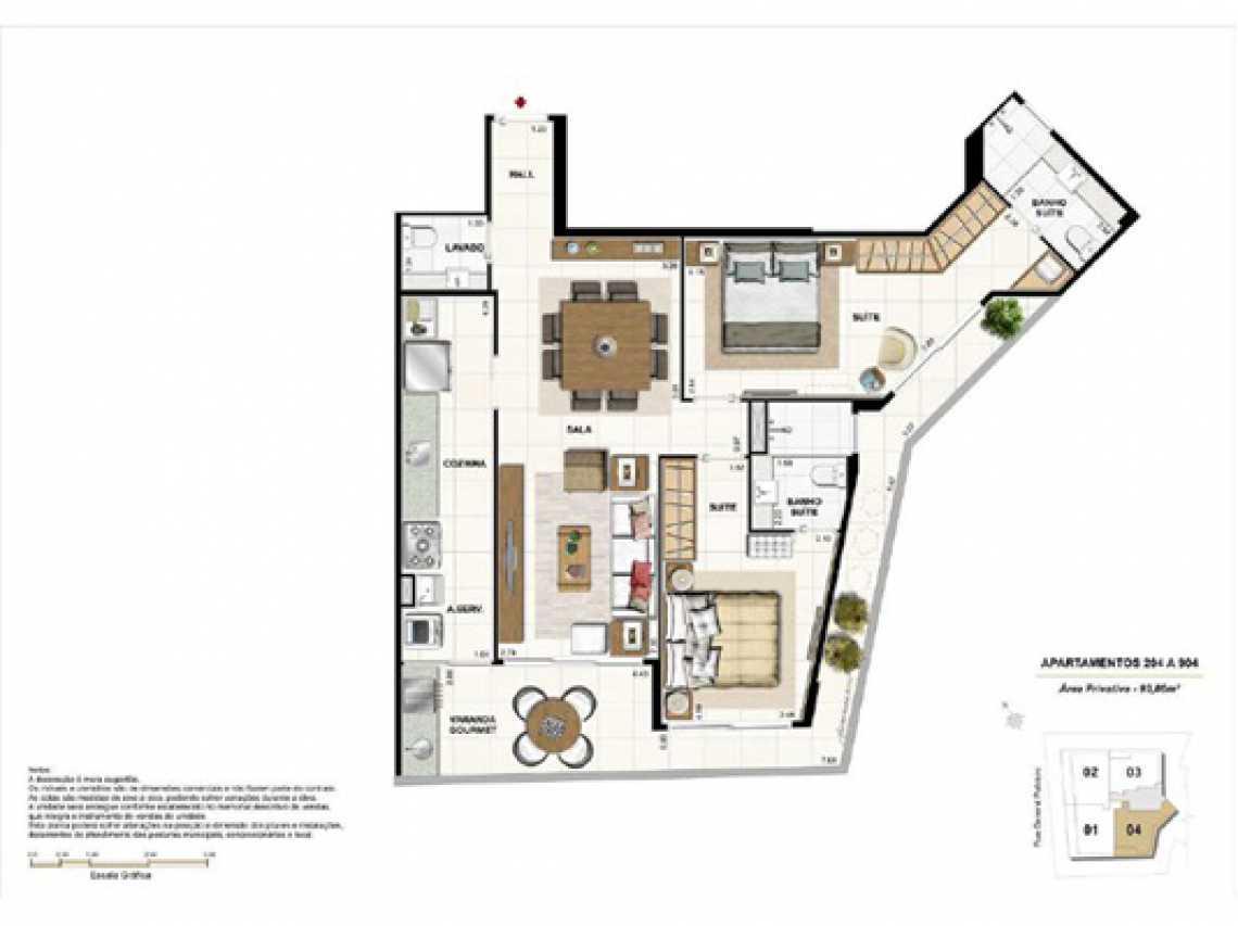 PLANTA4 - Apartamento À VENDA, Botafogo, Rio de Janeiro, RJ - LAAP31321 - 17