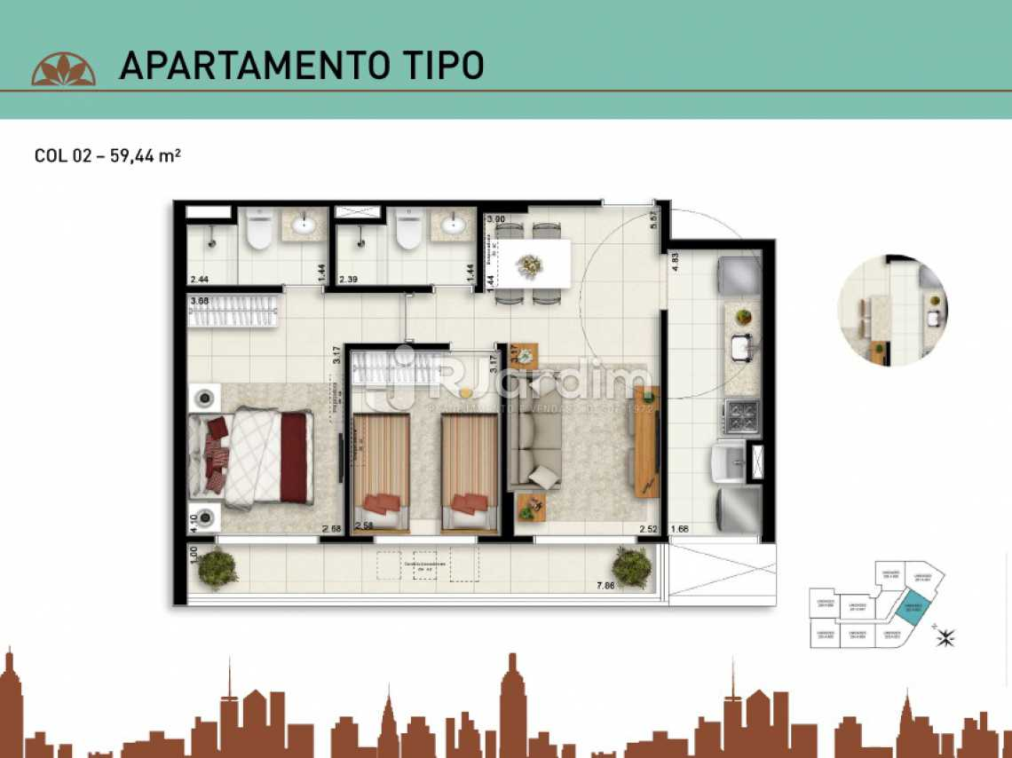 APARTAMENTO TIPO 02 - Apartamento À Venda - Vila Isabel - Rio de Janeiro - RJ - LAAP20940 - 12
