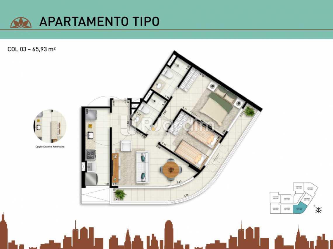 APARTAMENTO TIPO 03 - Apartamento Vila Isabel, Zona Norte - Grande Tijuca,Rio de Janeiro, RJ À Venda, 2 Quartos, 66m² - LAAP20940 - 13