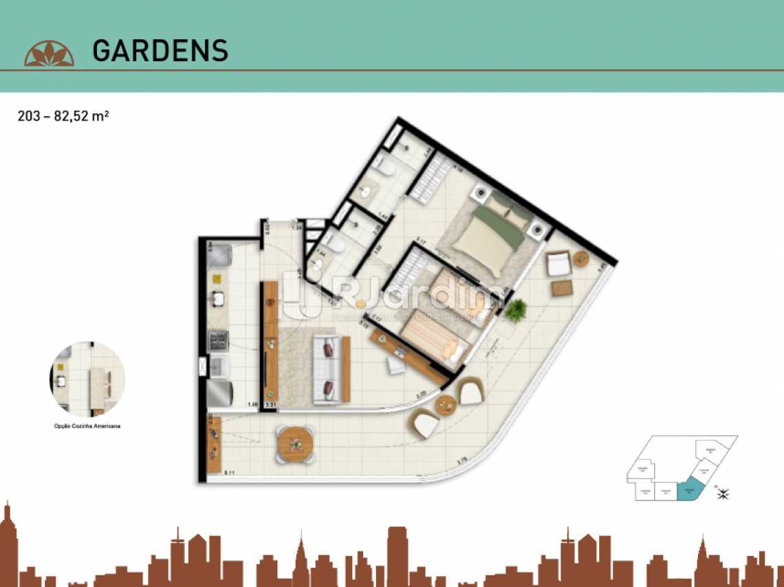 GARDENS 203 - Apartamento Vila Isabel, Zona Norte - Grande Tijuca,Rio de Janeiro, RJ À Venda, 2 Quartos, 66m² - LAAP20940 - 20