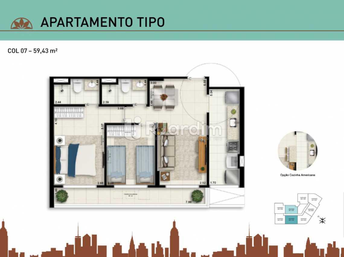 APARTAMENTO TIPO 07 - Apartamento Vila Isabel, Zona Norte - Grande Tijuca,Rio de Janeiro, RJ À Venda, 2 Quartos, 66m² - LAAP20940 - 17