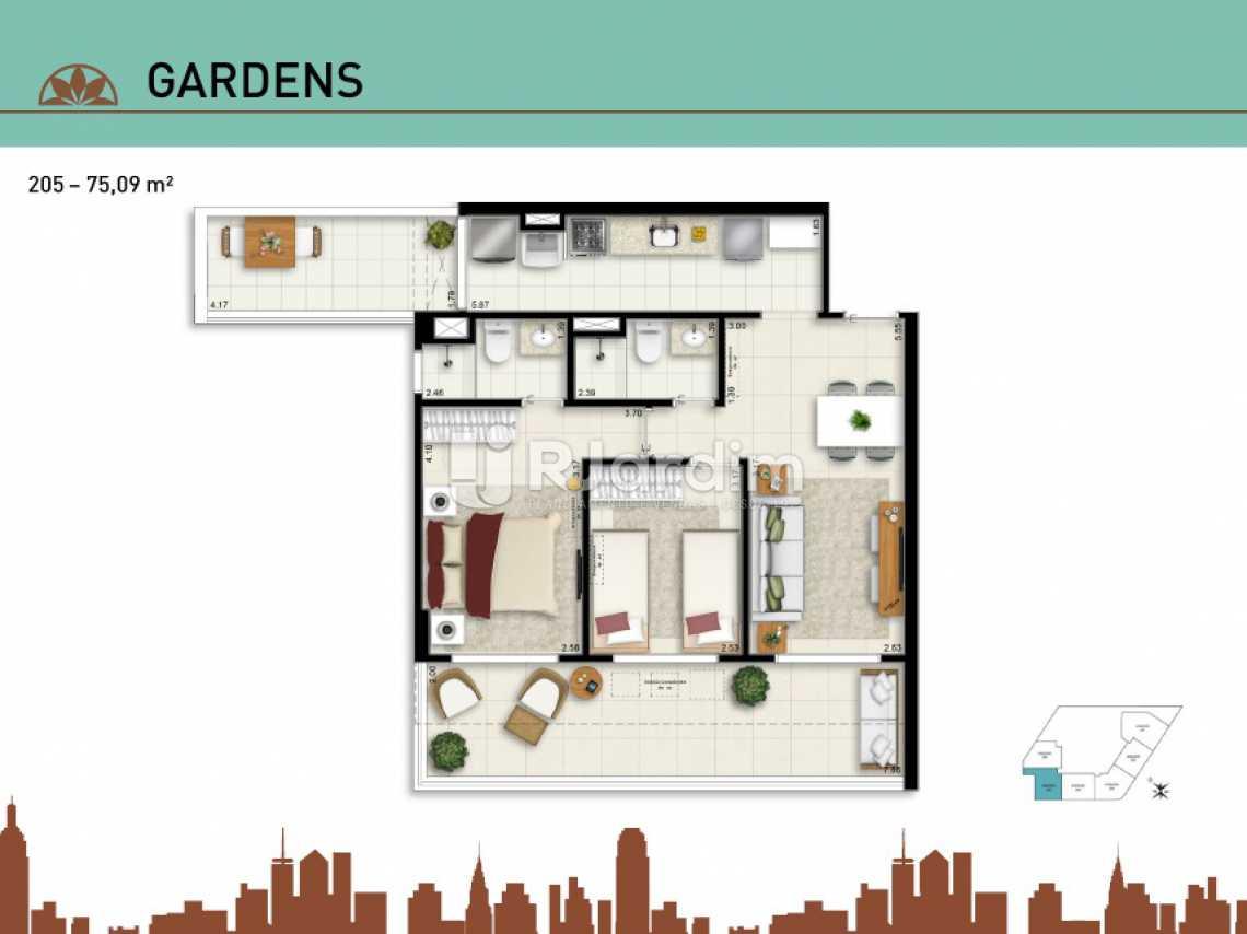 GARDENS 205jpg - Apartamento Vila Isabel, Zona Norte - Grande Tijuca,Rio de Janeiro, RJ À Venda, 2 Quartos, 66m² - LAAP20940 - 22
