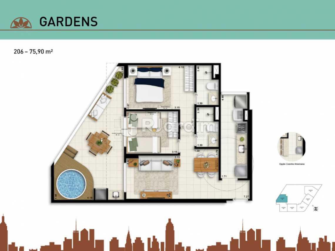 GARDENS 206 - Apartamento Vila Isabel, Zona Norte - Grande Tijuca,Rio de Janeiro, RJ À Venda, 2 Quartos, 66m² - LAAP20940 - 23
