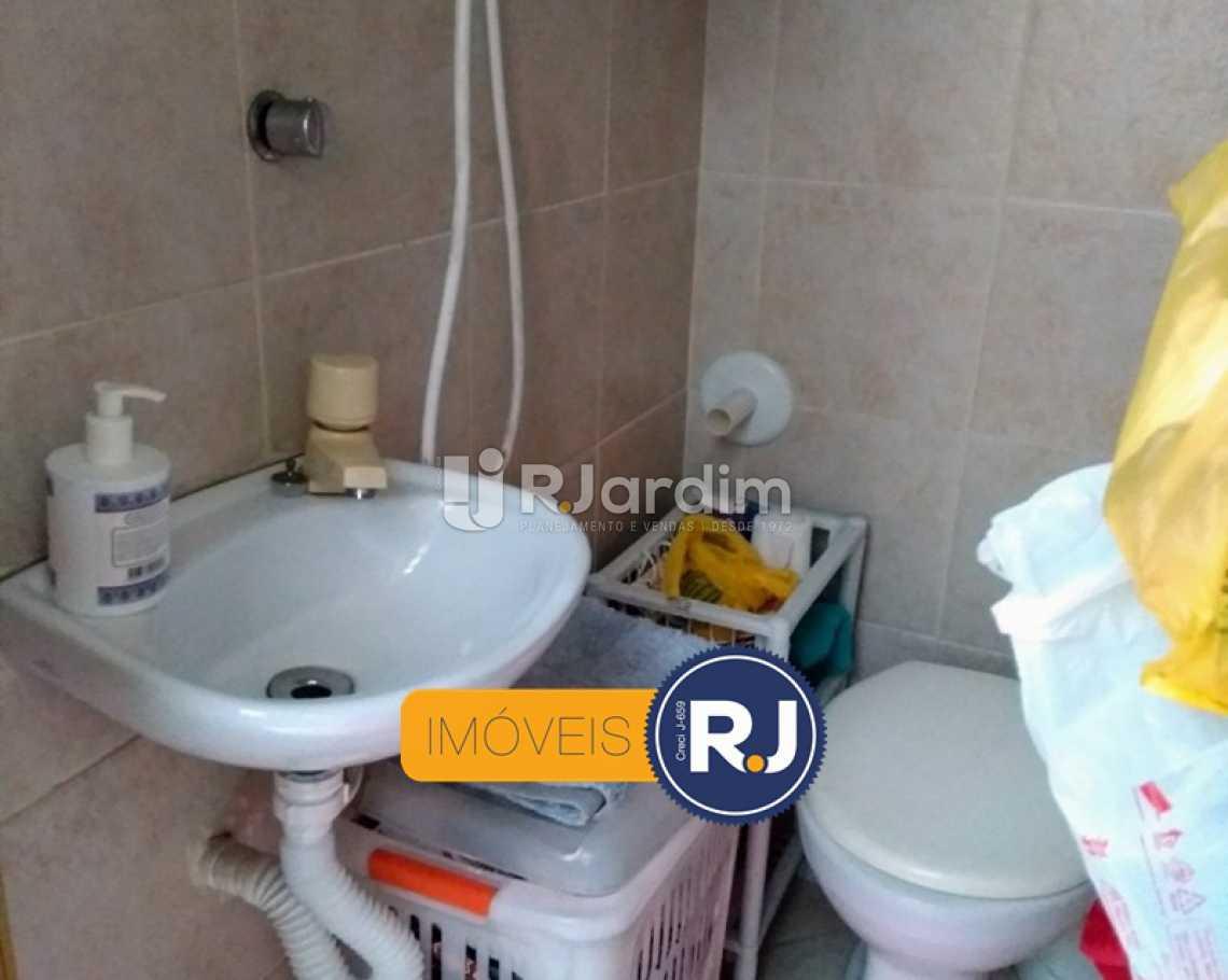 BANHEIRO SERVIÇO  - Apartamento Rua do Humaitá,Humaitá, Zona Sul,Rio de Janeiro, RJ À Venda, 3 Quartos, 83m² - LAAP31379 - 5