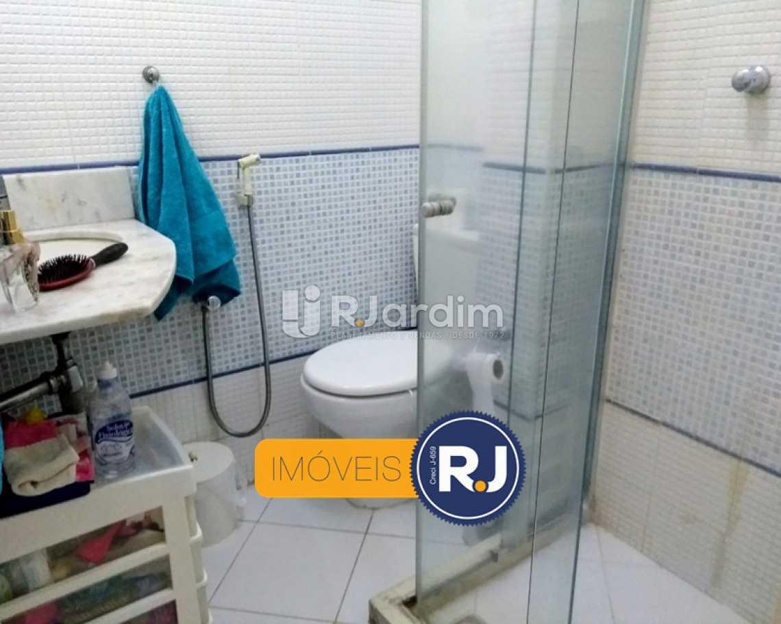 BANHEIRO SOCIAL  - Apartamento Rua do Humaitá,Humaitá, Zona Sul,Rio de Janeiro, RJ À Venda, 3 Quartos, 83m² - LAAP31379 - 6
