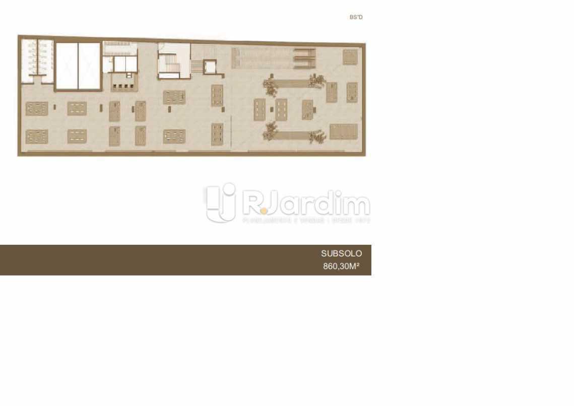 LOJA A SUBSOLO 860,30M² - Loja À VENDA, Leblon, Rio de Janeiro, RJ - LALJ00085 - 9