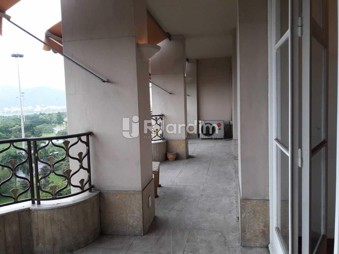 Varandão frontal - Apartamento 3 quartos para alugar Flamengo, Zona Sul,Rio de Janeiro - R$ 6.000 - LAAP31520 - 5