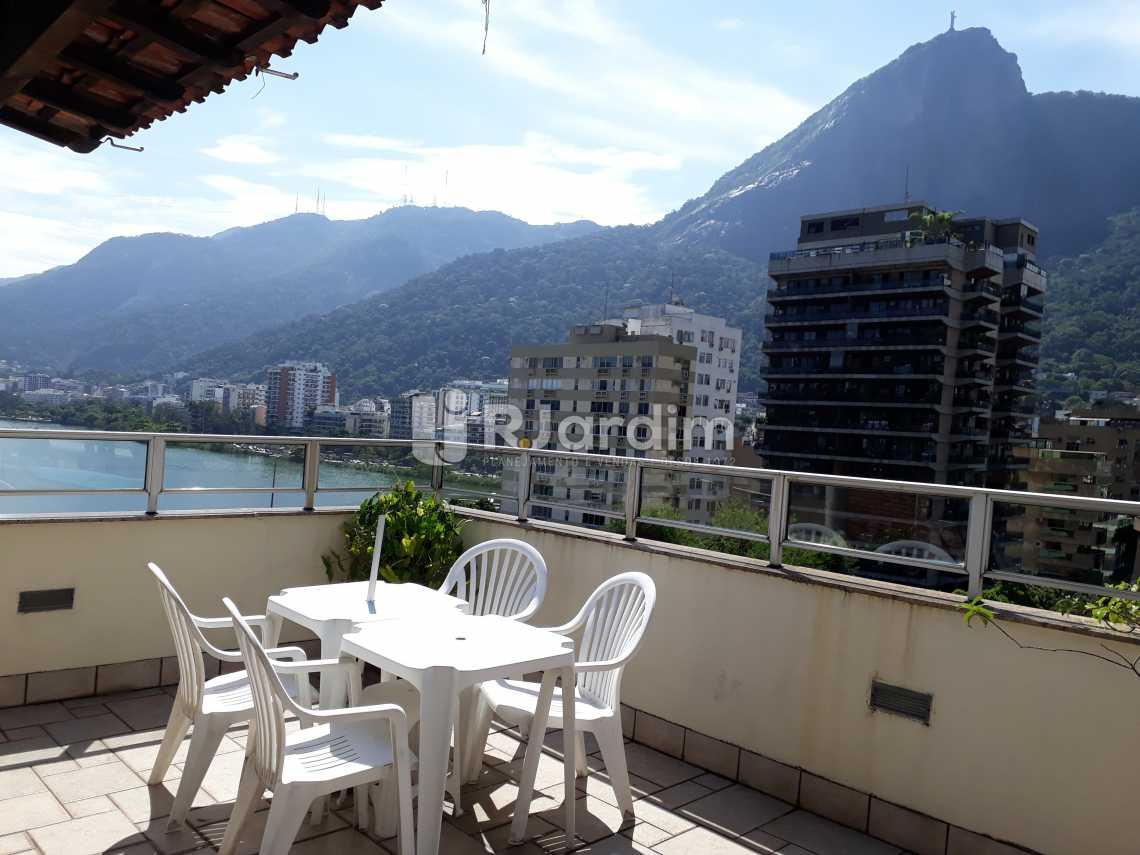 terraço vista Lagoa  - Cobertura Lagoa 2 Quartos Compra Venda Avaliação Imóveis - LACO20075 - 3
