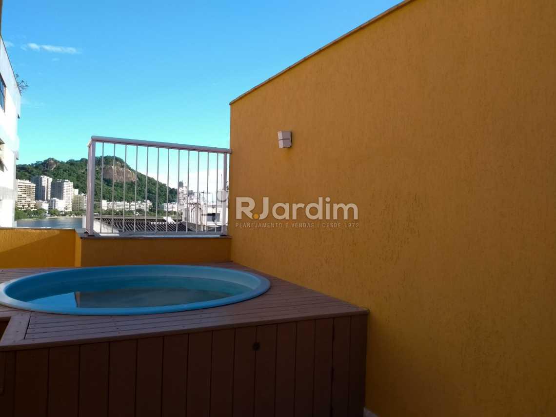 Terraço /piscina  - Flat À VENDA, Jardim Botânico, Rio de Janeiro, RJ - LAFL10069 - 15