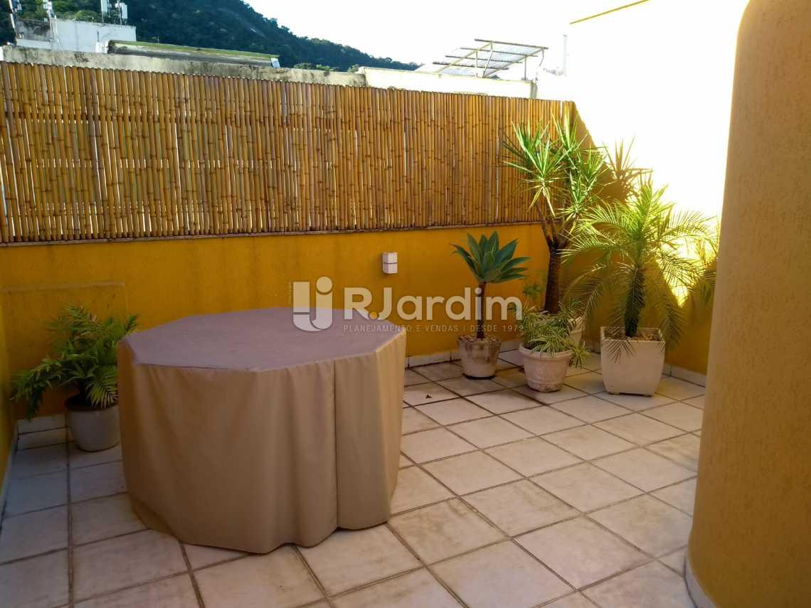 terraço  - Flat À VENDA, Jardim Botânico, Rio de Janeiro, RJ - LAFL10069 - 14