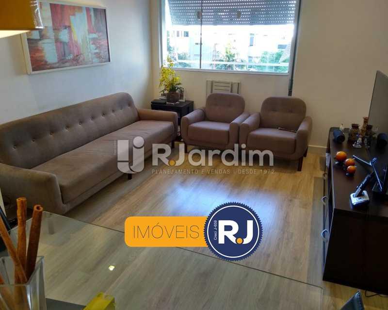 sala / vista livre - Apartamento Humaitá 2 Quartos - LAAP21146 - 1
