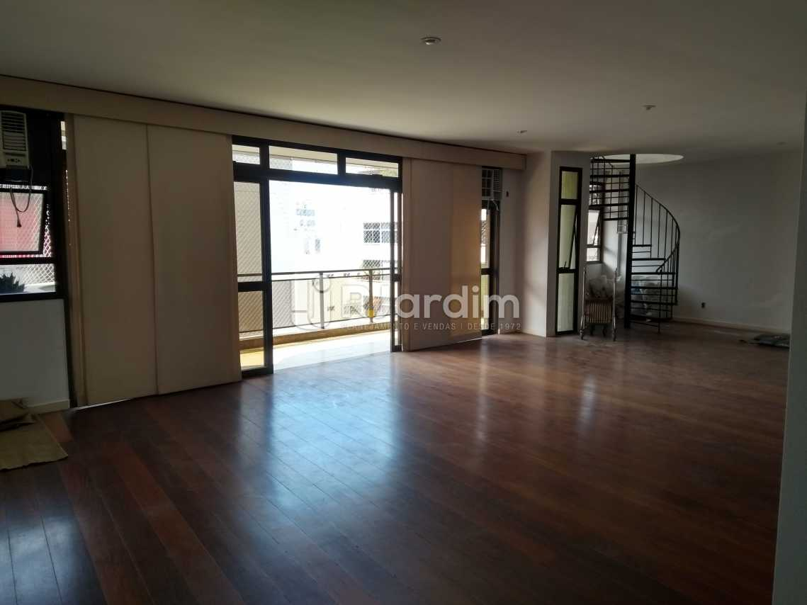 Sala - Imóveis Aluguel Cobertura Leblon 4 quartos - LACO40146 - 1