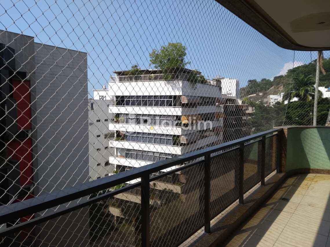 Varanda Sala - Imóveis Aluguel Cobertura Leblon 4 quartos - LACO40146 - 6