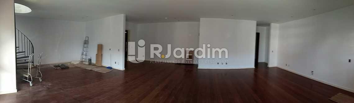 Panoramica Sala - Imóveis Aluguel Cobertura Leblon 4 quartos - LACO40146 - 7