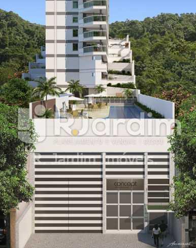 acesso - Apartamento 2 quartos à venda Botafogo, Zona Sul,Rio de Janeiro - R$ 1.085.600 - LAAP21192 - 3