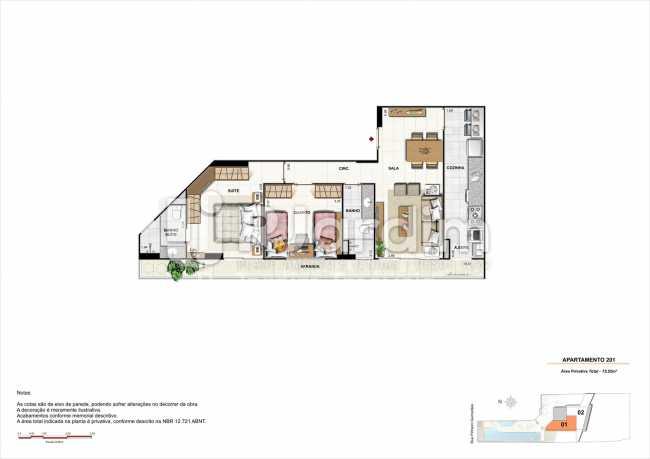 AP201-smart - Apartamento 2 quartos à venda Botafogo, Zona Sul,Rio de Janeiro - R$ 1.085.600 - LAAP21192 - 15