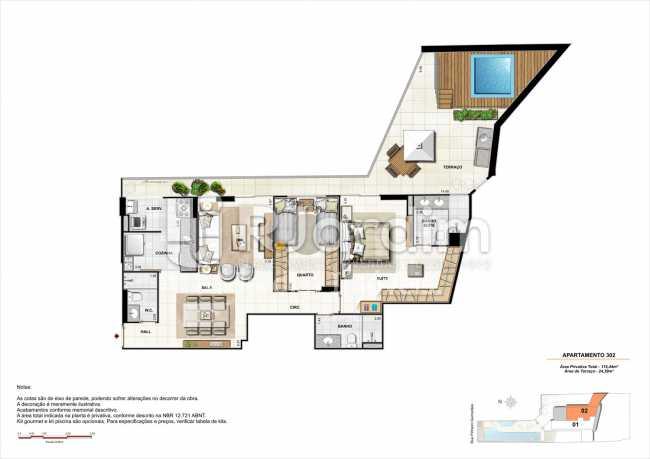 AP302-garden-gourmet - Apartamento 2 quartos à venda Botafogo, Zona Sul,Rio de Janeiro - R$ 1.085.600 - LAAP21192 - 18