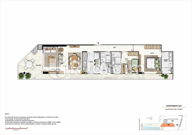 AP401-gourmet - Apartamento 2 quartos à venda Botafogo, Zona Sul,Rio de Janeiro - R$ 1.085.600 - LAAP21192 - 19