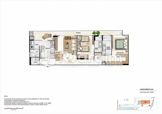 AP403-smart - Apartamento 2 quartos à venda Botafogo, Zona Sul,Rio de Janeiro - R$ 1.085.600 - LAAP21192 - 21