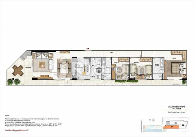 AP501-gourmet - Apartamento 2 quartos à venda Botafogo, Zona Sul,Rio de Janeiro - R$ 1.085.600 - LAAP21192 - 22