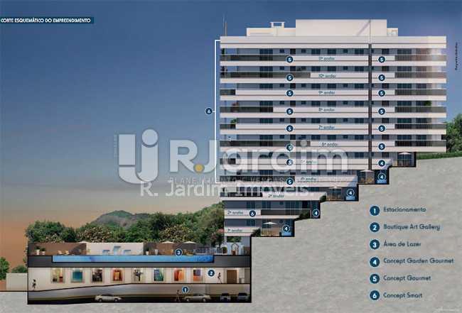 corte.esquemático.do.empreend - Apartamento 2 quartos à venda Botafogo, Zona Sul,Rio de Janeiro - R$ 1.085.600 - LAAP21192 - 4