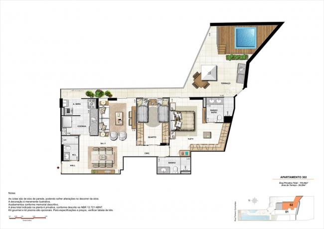 AP302-garden-gourmet - Apartamento À VENDA, Botafogo, Rio de Janeiro, RJ - LAAP21335 - 15