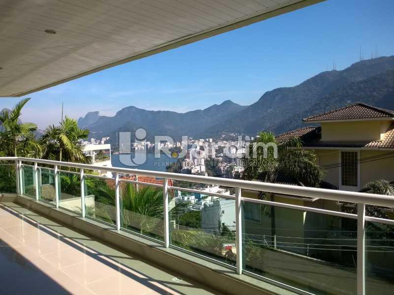 Vista lagoa / varanda  - Apartamento à venda Rua Casuarina,Lagoa, Zona Sul,Rio de Janeiro - R$ 2.500.000 - LAAP31685 - 1