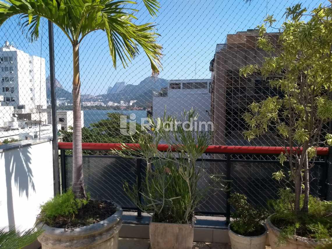 Terraço/vista  - Cobertura À VENDA, Lagoa, Rio de Janeiro, RJ - LACO30235 - 1