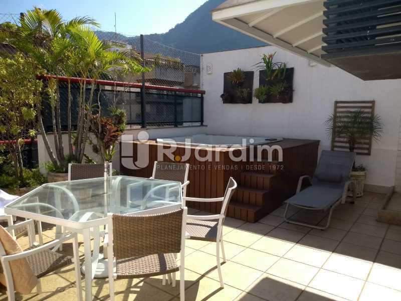 terraço / jacuzzi - Cobertura À VENDA, Lagoa, Rio de Janeiro, RJ - LACO30235 - 4