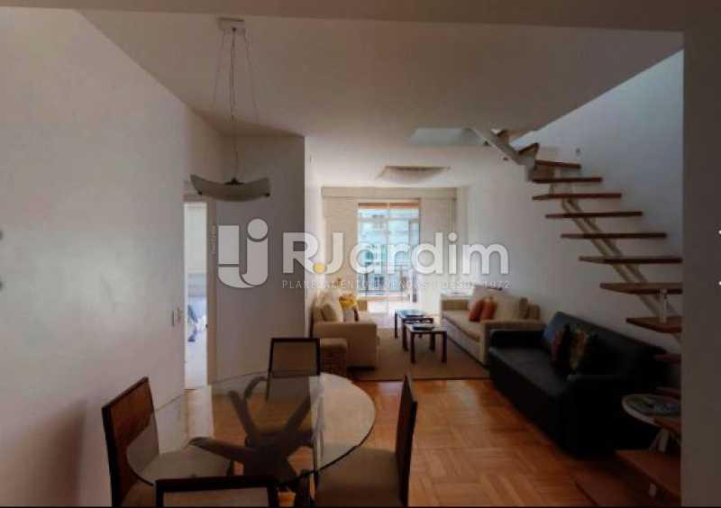 vista da sala de estar e janta - Cobertura à venda Rua Alberto de Campos,Ipanema, Zona Sul,Rio de Janeiro - R$ 3.150.000 - LACO20084 - 12