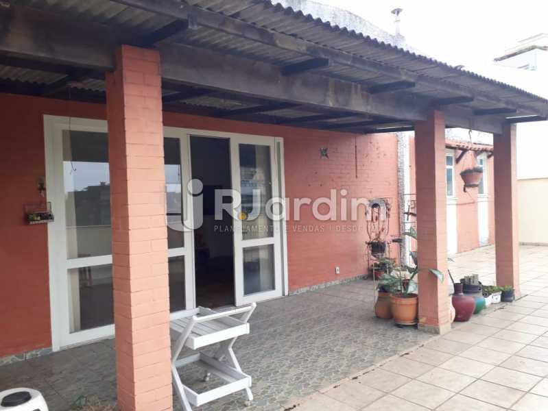 terraço /frente  - Compra Venda Avaliação Imóveis Cobertura Jardim Botânico 4 Quartos - LACO40158 - 3