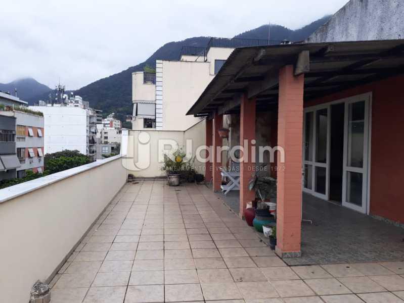 terraço / frente  - Compra Venda Avaliação Imóveis Cobertura Jardim Botânico 4 Quartos - LACO40158 - 1