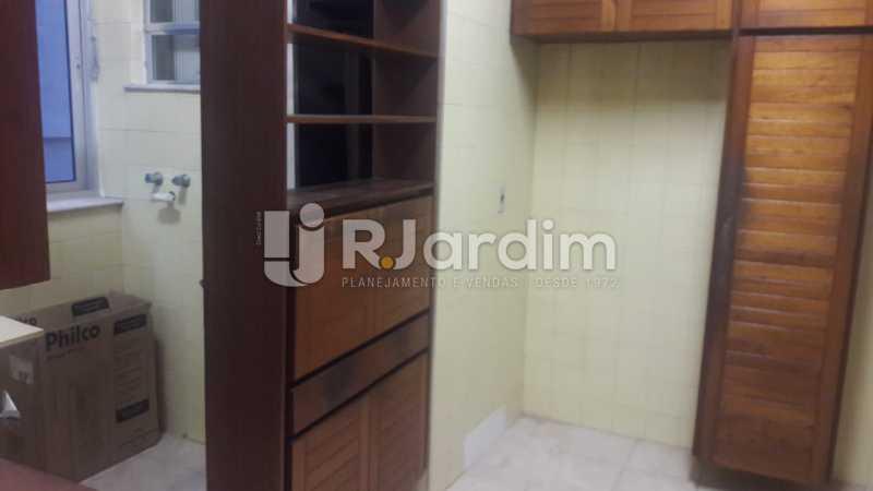 cozinha vista área  - Compra Venda Avaliação Imóveis Apartamento Ipanema 3 Quartos - LAAP31777 - 14