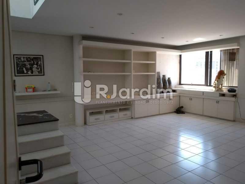 sala / primeiro piso  - Cobertura Rua Aperana,Leblon, Zona Sul,Rio de Janeiro, RJ À Venda, 4 Quartos, 341m² - LACO40159 - 8