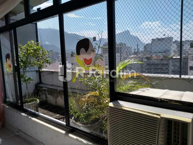 varanda/segundo piso  - Cobertura Rua Aperana,Leblon, Zona Sul,Rio de Janeiro, RJ À Venda, 4 Quartos, 341m² - LACO40159 - 13