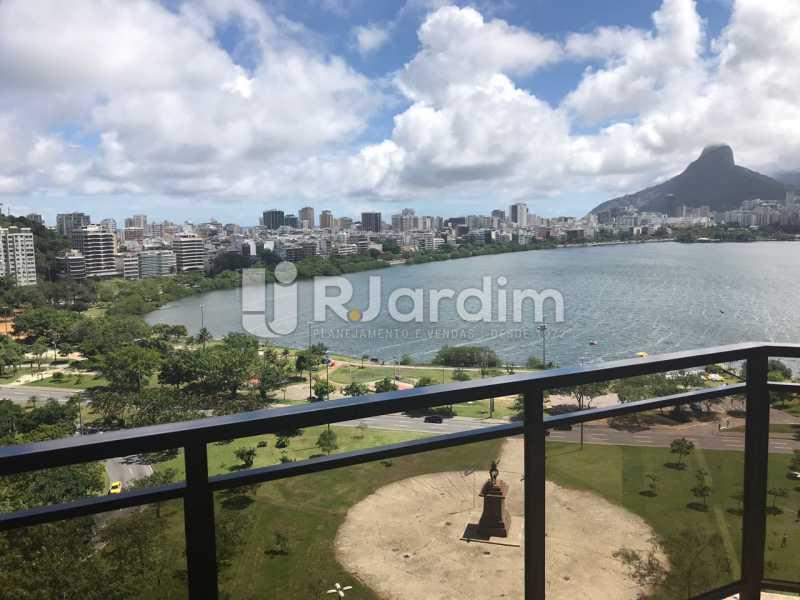 Vista da varanda - Apartamento para alugar Avenida Epitácio Pessoa,Lagoa, Zona Sul,Rio de Janeiro - R$ 7.500 - LAAP31862 - 3