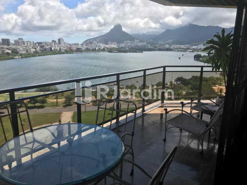 Vista da varanda - Apartamento para alugar Avenida Epitácio Pessoa,Lagoa, Zona Sul,Rio de Janeiro - R$ 7.500 - LAAP31862 - 1