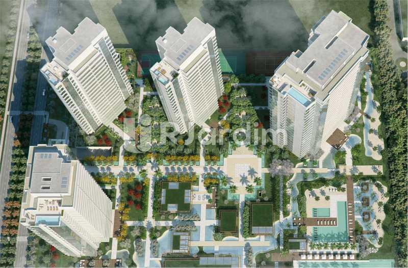 FOTO ARÉA  - Compra Venda Avaliação Imóveis Apartamento Barra da Tijuca 4 Quartos - LAAP40723 - 22