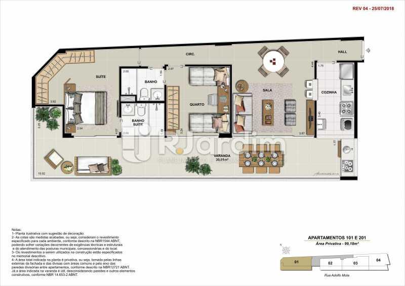 AP 101 - Apartamento 2 quartos à venda Tijuca, Zona Norte - Grande Tijuca,Rio de Janeiro - R$ 1.340.000 - LAAP21342 - 6