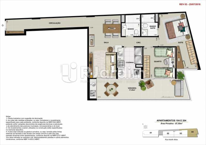 AP 104 - Apartamento 2 quartos à venda Tijuca, Zona Norte - Grande Tijuca,Rio de Janeiro - R$ 1.340.000 - LAAP21342 - 9